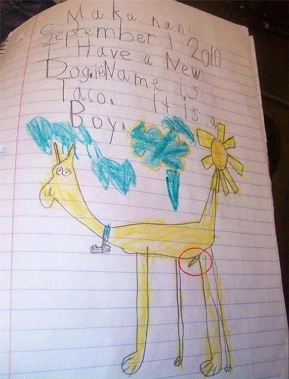 Παράξενες και εκκεντρικές ζωγραφιές από παιδιά (7)