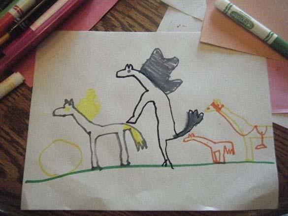 Παράξενες και εκκεντρικές ζωγραφιές από παιδιά (19)