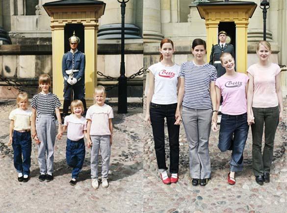 4 αδερφές αναπαράγουν φωτογραφίες της παιδικής τους ηλικίας (1)