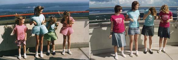 4 αδερφές αναπαράγουν φωτογραφίες της παιδικής τους ηλικίας (3)