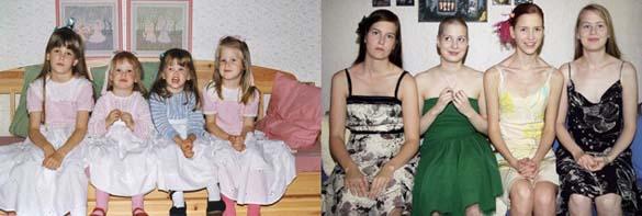 4 αδερφές αναπαράγουν φωτογραφίες της παιδικής τους ηλικίας (4)