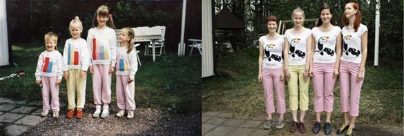 4 αδερφές αναπαράγουν φωτογραφίες της παιδικής τους ηλικίας (5)