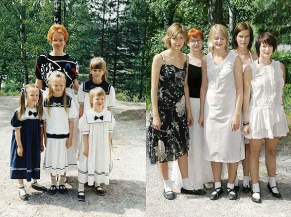 4 αδερφές αναπαράγουν φωτογραφίες της παιδικής τους ηλικίας (6)