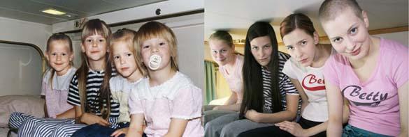 4 αδερφές αναπαράγουν φωτογραφίες της παιδικής τους ηλικίας (8)