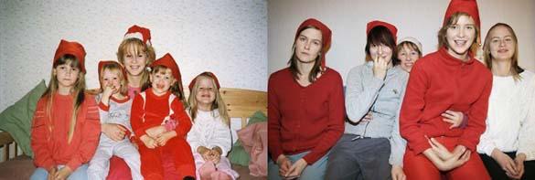 4 αδερφές αναπαράγουν φωτογραφίες της παιδικής τους ηλικίας (9)
