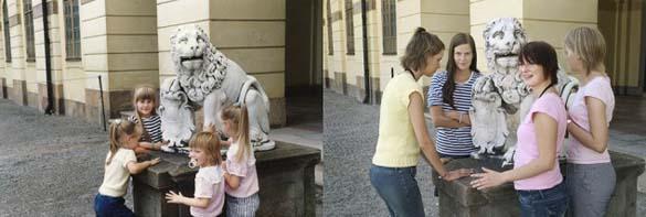 4 αδερφές αναπαράγουν φωτογραφίες της παιδικής τους ηλικίας (12)