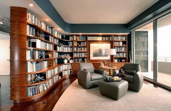 Εντυπωσιακές βιβλιοθήκες στο σπίτι (10)