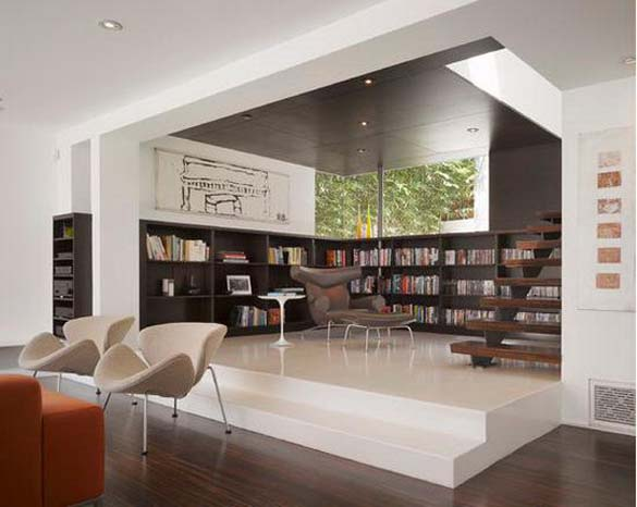 Εντυπωσιακές βιβλιοθήκες στο σπίτι (13)