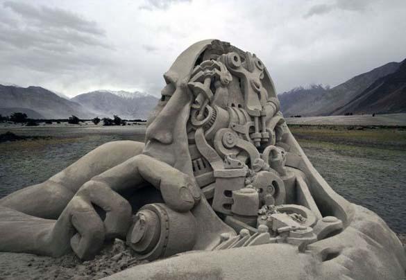 Γλυπτά από άμμο (5)
