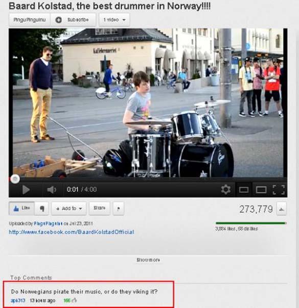 Παράξενα & ξεκαρδιστικά σχόλια στο YouTube (18)