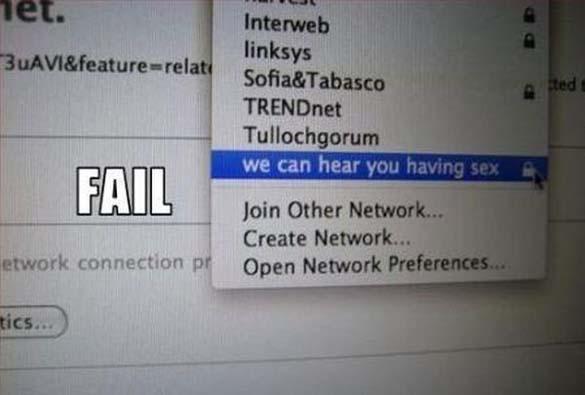 Αστεία και παράξενα ονόματα σε WiFi (1)
