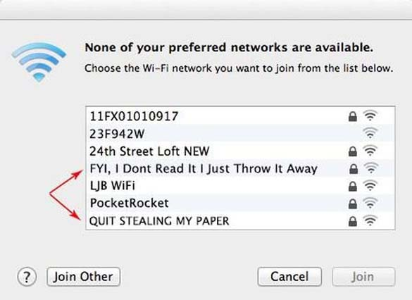 Αστεία και παράξενα ονόματα σε WiFi (5)
