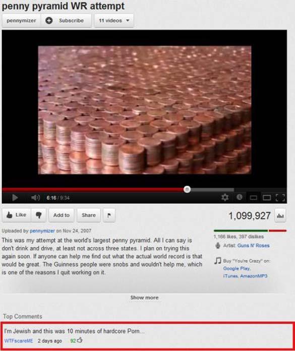 Παράξενα & ξεκαρδιστικά σχόλια στο YouTube (8)