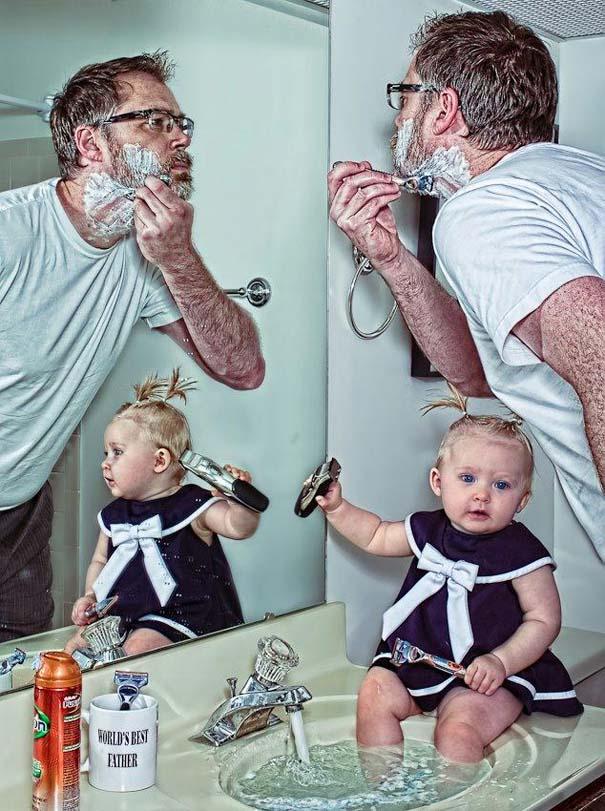 Πατέρας και κόρη σε απίθανες φωτογραφίες (2)