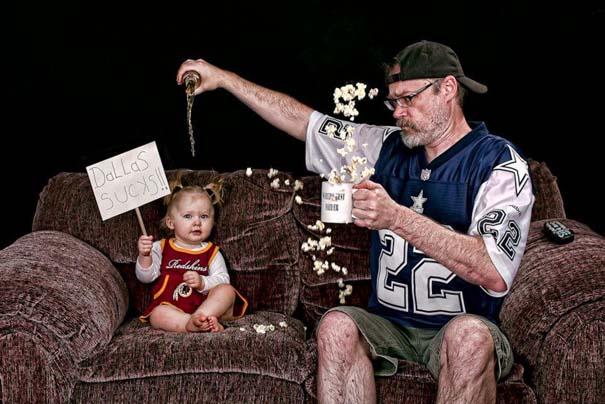 Πατέρας και κόρη σε απίθανες φωτογραφίες (3)