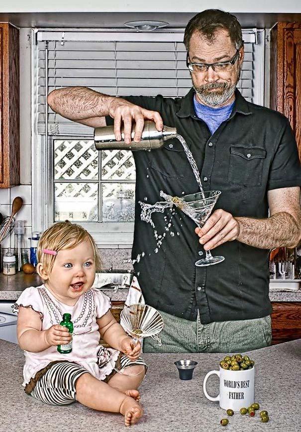 Πατέρας και κόρη σε απίθανες φωτογραφίες (4)
