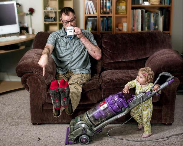 Πατέρας και κόρη σε απίθανες φωτογραφίες (5)