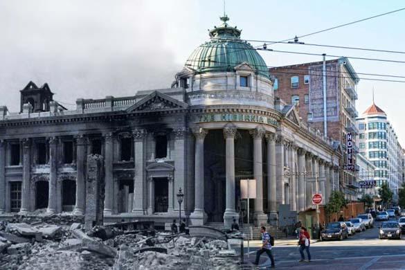 San Francisco μετά τον καταστροφικό σεισμό του 1906 και σήμερα (1)