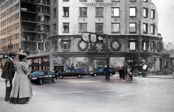 San Francisco μετά τον καταστροφικό σεισμό του 1906 και σήμερα (4)