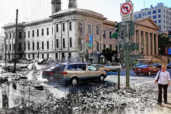 San Francisco μετά τον καταστροφικό σεισμό του 1906 και σήμερα (7)