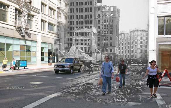 San Francisco μετά τον καταστροφικό σεισμό του 1906 και σήμερα (8)