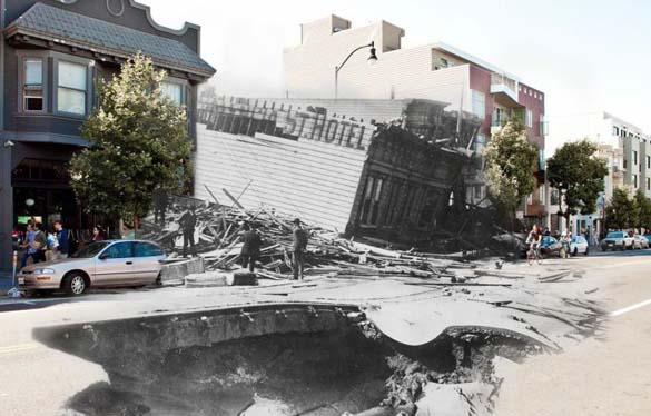 San Francisco μετά τον καταστροφικό σεισμό του 1906 και σήμερα (10)