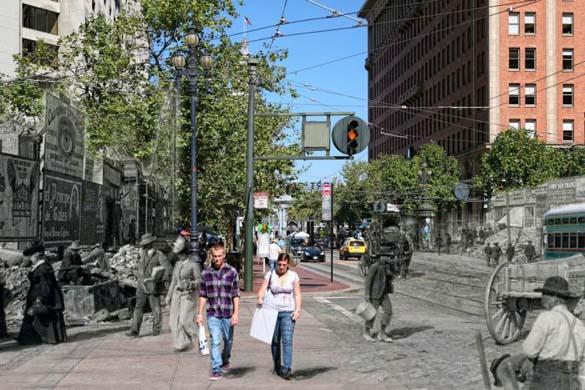 San Francisco μετά τον καταστροφικό σεισμό του 1906 και σήμερα (11)
