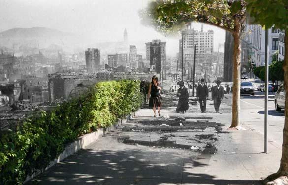 San Francisco μετά τον καταστροφικό σεισμό του 1906 και σήμερα (12)