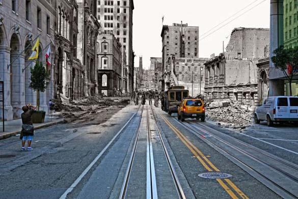 San Francisco μετά τον καταστροφικό σεισμό του 1906 και σήμερα (13)