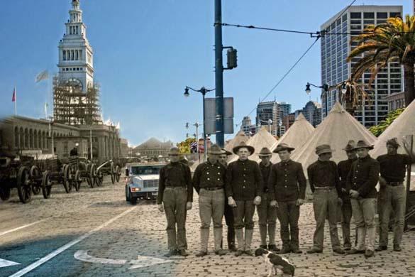 San Francisco μετά τον καταστροφικό σεισμό του 1906 και σήμερα (15)