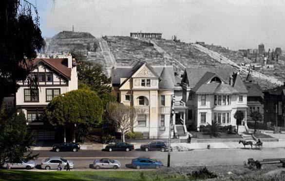 San Francisco μετά τον καταστροφικό σεισμό του 1906 και σήμερα (18)