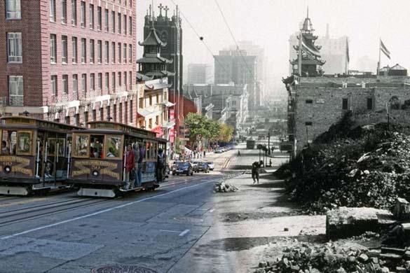 San Francisco μετά τον καταστροφικό σεισμό του 1906 και σήμερα (19)