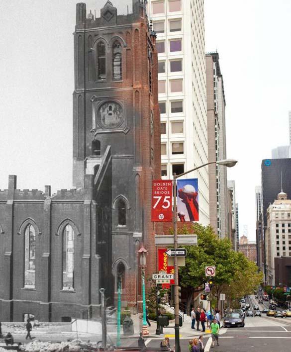 San Francisco μετά τον καταστροφικό σεισμό του 1906 και σήμερα (20)