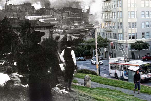 San Francisco μετά τον καταστροφικό σεισμό του 1906 και σήμερα (21)