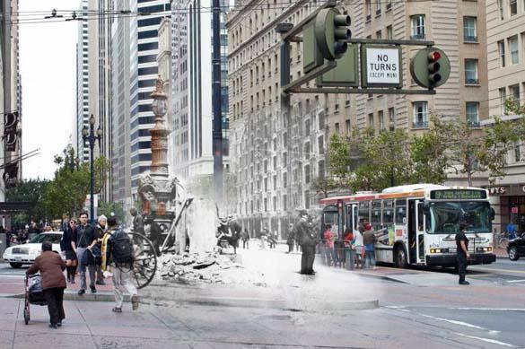 San Francisco μετά τον καταστροφικό σεισμό του 1906 και σήμερα (22)