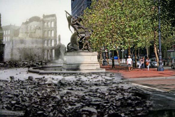 San Francisco μετά τον καταστροφικό σεισμό του 1906 και σήμερα (23)