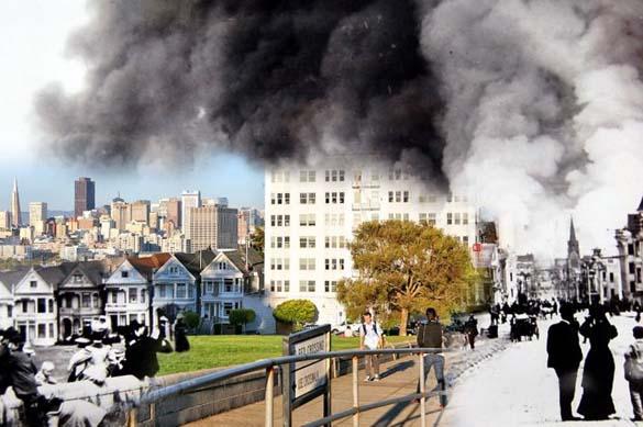 San Francisco μετά τον καταστροφικό σεισμό του 1906 και σήμερα (25)