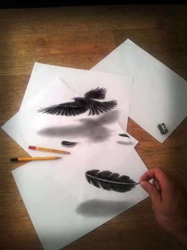 Εκπληκτικές 3D ζωγραφιές που «βγαίνουν» απ' το χαρτί (3)