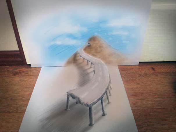 Εκπληκτικές 3D ζωγραφιές που «βγαίνουν» απ' το χαρτί (10)