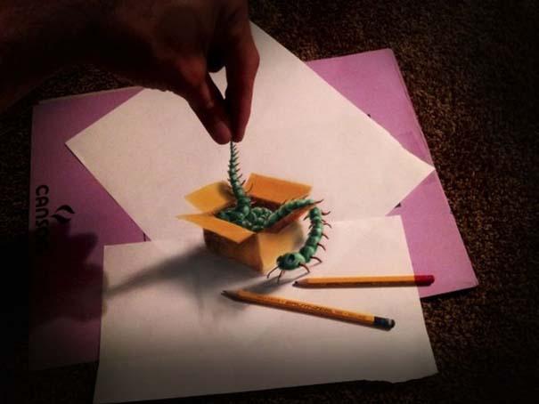 Εκπληκτικές 3D ζωγραφιές που «βγαίνουν» απ' το χαρτί (12)