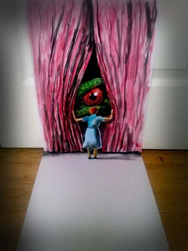 Εκπληκτικές 3D ζωγραφιές που «βγαίνουν» απ' το χαρτί (15)