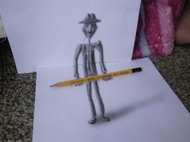 Εκπληκτικές 3D ζωγραφιές που «βγαίνουν» απ' το χαρτί (16)