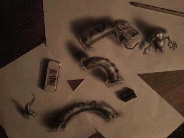 Εκπληκτικές 3D ζωγραφιές που «βγαίνουν» απ' το χαρτί (20)