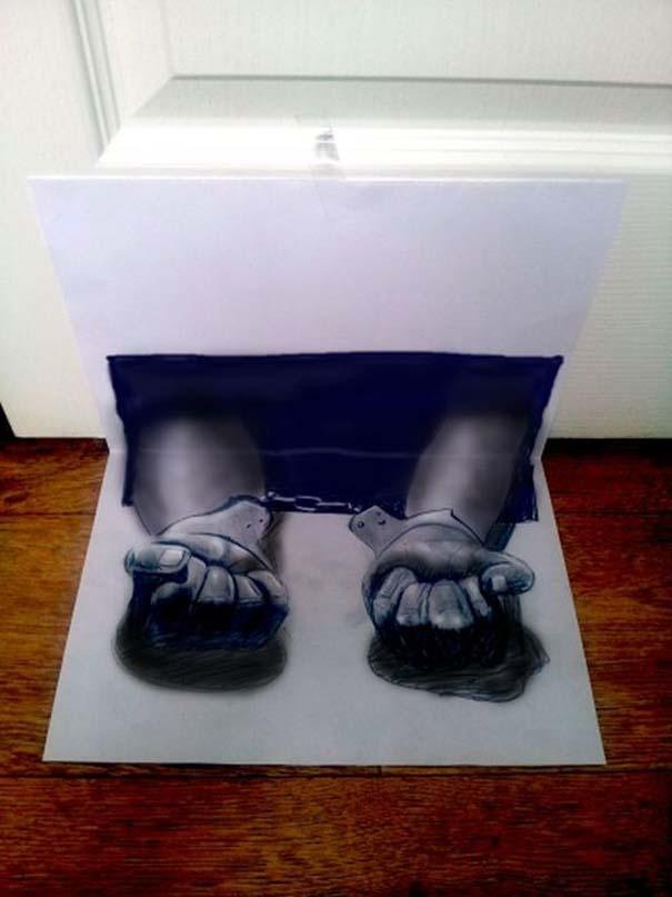 Εκπληκτικές 3D ζωγραφιές που «βγαίνουν» απ' το χαρτί (21)