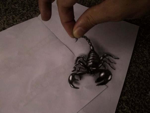 Εκπληκτικές 3D ζωγραφιές που «βγαίνουν» απ' το χαρτί (24)