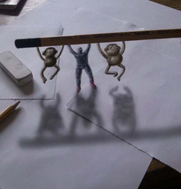 Εκπληκτικές 3D ζωγραφιές που «βγαίνουν» απ' το χαρτί (29)
