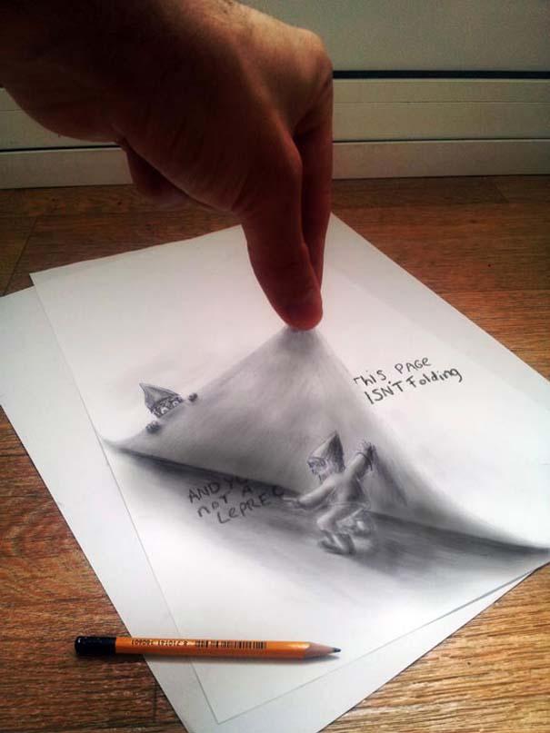 Εκπληκτικές 3D ζωγραφιές που «βγαίνουν» απ' το χαρτί (35)