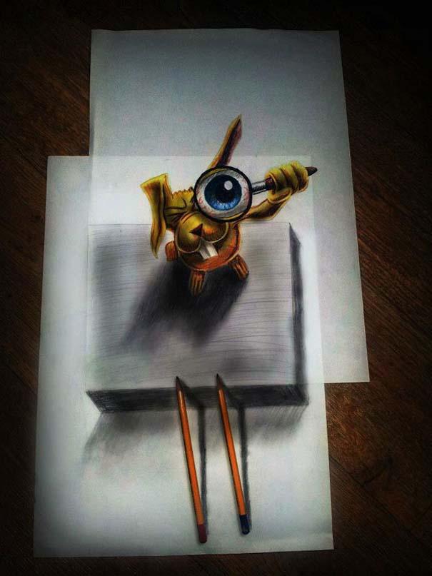 Εκπληκτικές 3D ζωγραφιές που «βγαίνουν» απ' το χαρτί (36)