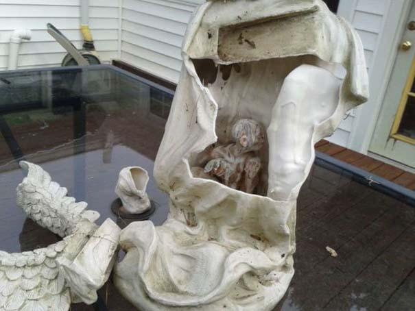 Το άγαλμα αγγέλου έκρυβε μια έκπληξη (2)