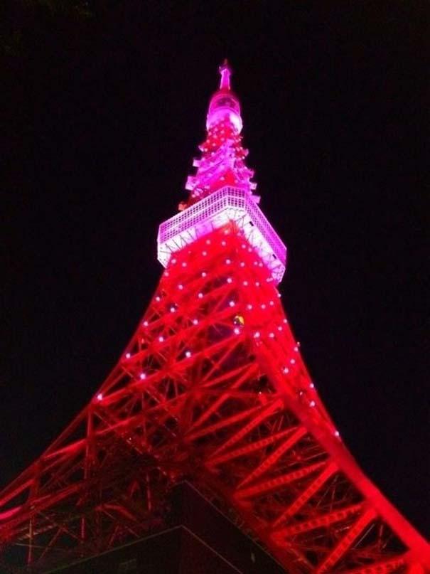 13 διάσημα αξιοθέατα φωτίζονται σε ροζ αποχρώσεις για καλό σκοπό (12)